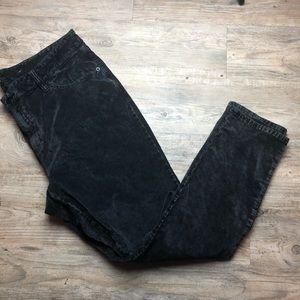 Lucky brand ginger skinny black velvet pants